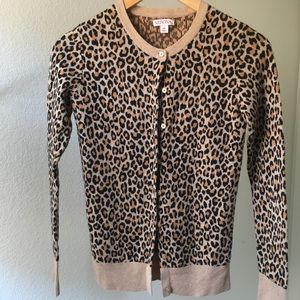 Fitted leopard cardigan